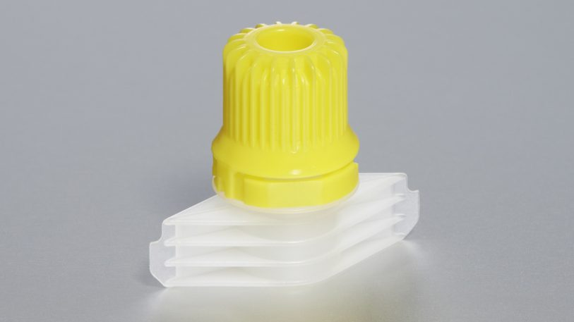 Im Reinraum gefertigt und montiert wird. Das Einschweißteil wird für Beutelverpackungen benötigt. Abgefüllt wird beispielsweise Fruchtpüree.