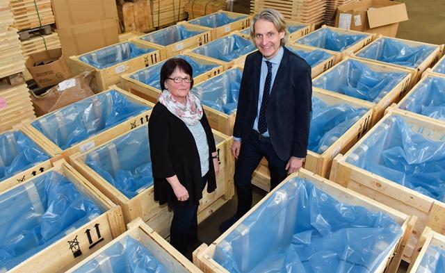 Jutta Günther weiß die Betzinger- Kunden bei den Packmittel-Profis in guten Händen. Foto: ©Schulte Verpackungs-Systeme
