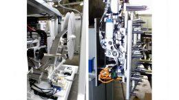 Die Automatisierungskompetenzen von Getecha reichen von Vorrichtungen zum automatisierten Aufkleben von Schaumstoffpads (li.) bis hin zu komplexen Greifern für eine Pick & Place-Anwendung (re.).