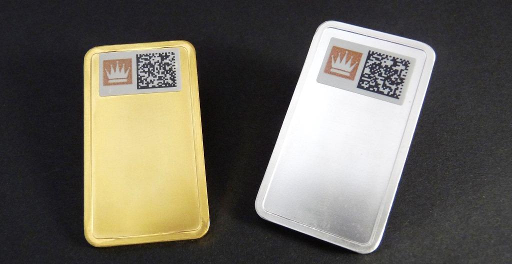 Den KeySecure-Code auf den Barren kann man mit dem Smartphone erfassen und so die Echtheit überprüfen.