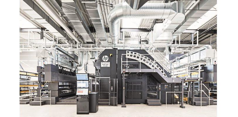Offizielle Einweihung am Standort Ilsenburg: Die erste digitale PageWide Rollendruckmaschine T1100S von HP in Deutschland. (Bild: Thimm)