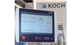 Das neue, intuitive HMI-Bedienpanel der KOCH Pac-Systeme GmbH.