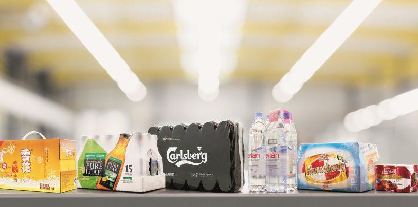 Eine Auswahl aktueller attraktiver Sekundärverpackungen. (Bild: KHS)