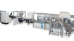 Robotergestützte Automatisierung für Schlauchbeutel- und Schrumpfverpackungen.