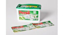 Das klassische grüne Etikett im Retro-Design ziert die Jubiläumsverpackung zum 110. Geburtstag von Persil.