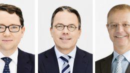 Der Vorstand der Gerresheimer AG: Rainer Beaujean, Andreas Schütte und der neue Vorsitzende Dr. Christian Fischer. Bilder: Gerresheimer AG
