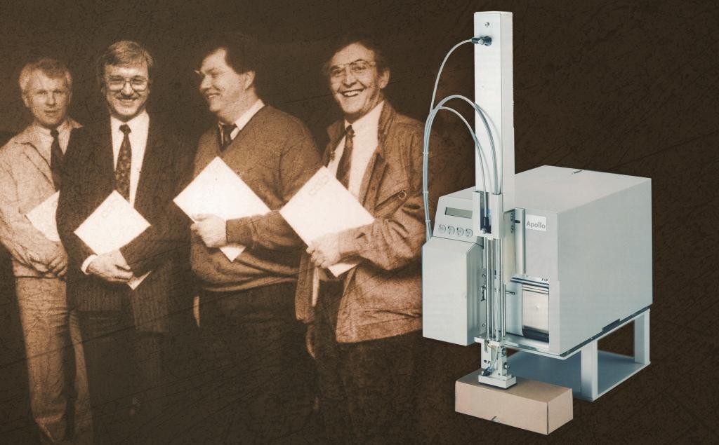 """Das Unternehmen firmiert als """"Gesellschaft für Computer- und Automationsbausteine mbH & Co. KG"""". Viele historische cab-Drucksysteme verrichten heute noch ihre Arbeit in den Unternehmen – hier der Apollo aus dem Jahr 1995."""