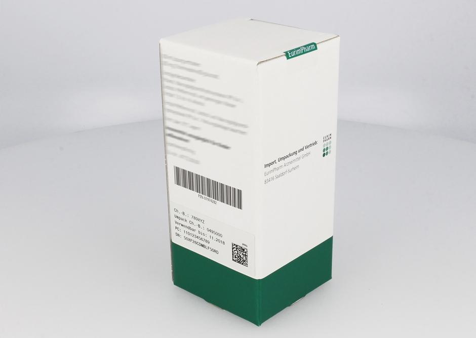 Serialisierte Arzneimittelpackung