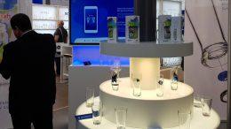 """Die neue Smartphone-App """"GlasConnect"""" präsentierte die Sahm erstmals auf der """"drinktec"""". Bild: Sahm"""