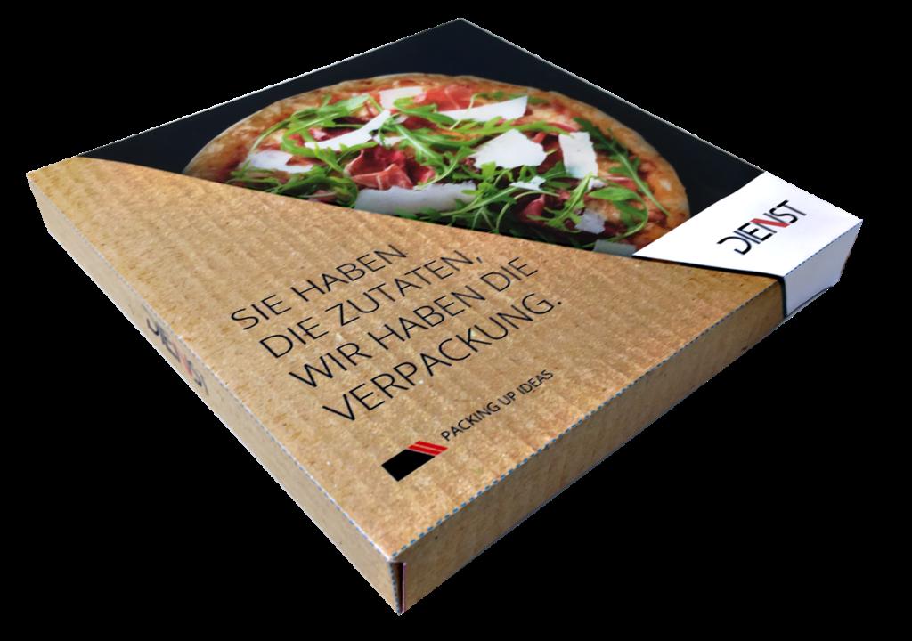 Pizzaprofis verpacken mit dem P3 von Dienst (Bild: Dienst)