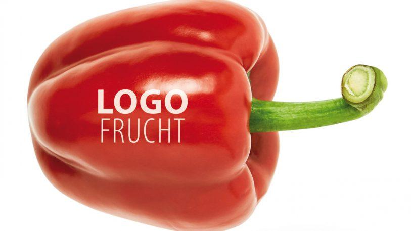 Rote Paprika mit Option Logo