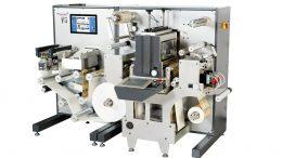 Die kompakte All-in one professionelle Etikettendruckmaschine Trojan T4 mit Inline-Finishing