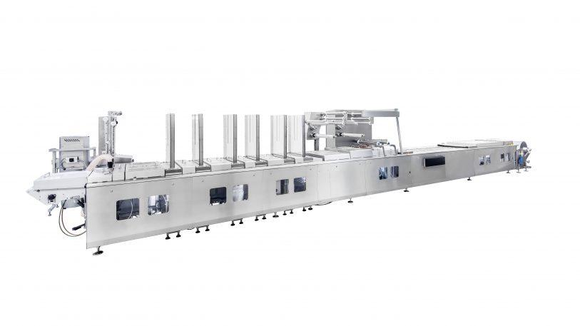 Innerhalb des Rahmens arbeiten bei der Thermoformmaschine VMAX standardisierte Module – individuell kombinierbar für maßgeschneiderte Produktionen. Bild: Weber Maschinenbau