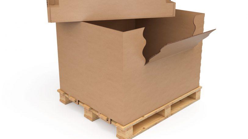 Im umweltfreundlichen Paletten-Container effizient von A nach B.