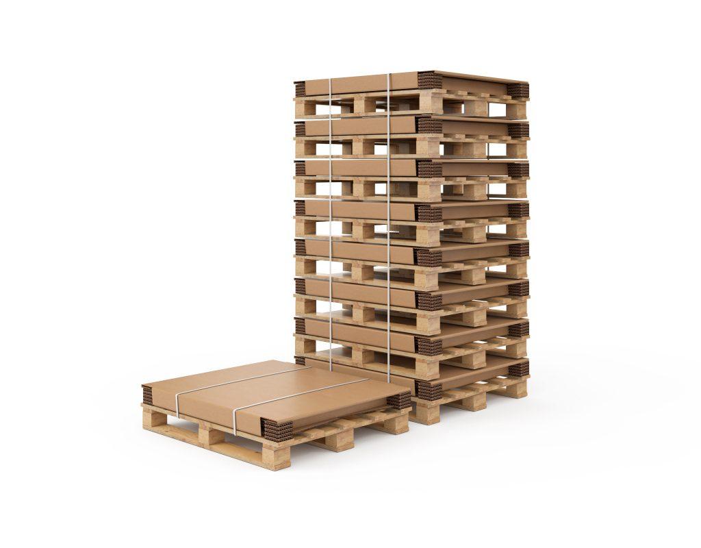 Die Paletten-Container werden als Set angeliefert und lassen sich leicht aufrichten.