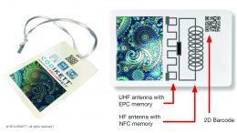 SECURIKETT® hat ein All-in-one-Etikett entwickelt, welches die gängigsten Technologien vereint. Das herkömmliche Scannen eines gedruckten QR-Codes mittels Handy oder Scanner ist um die UHF-RFID- und NFC-Technologie erweitert worden. Track & Trace mit CODIKETT® funktioniert sowohl mit den gedruckten Codes, als auch mit den UHF-RFIDs.