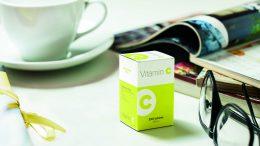 Vitaminbox: Karton als Träger von Markeninformation.