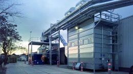 Filteranlage mit Entsorgungscenter für die Faltschachtelherstellung 2016.