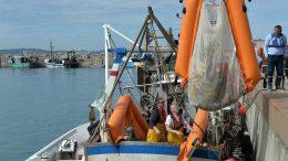 Fischer sammeln Plastikmüll aus dem Meer
