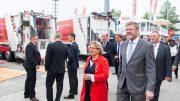 Bundesumweltministerin Svenja Schulze auf der IFAT 2018