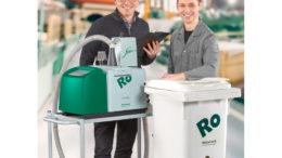 Klebstoff-Befüllsystem RobaFeed 3 mit Granulatbehälter GlueFill