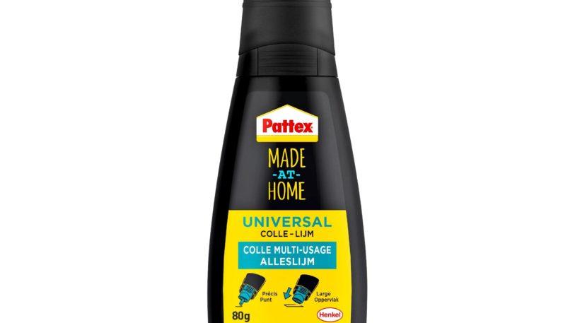 Die neue auf 100 Prozent Recycling-Materialien basierende Pattex Made-at-Home Flasche von Henkel.