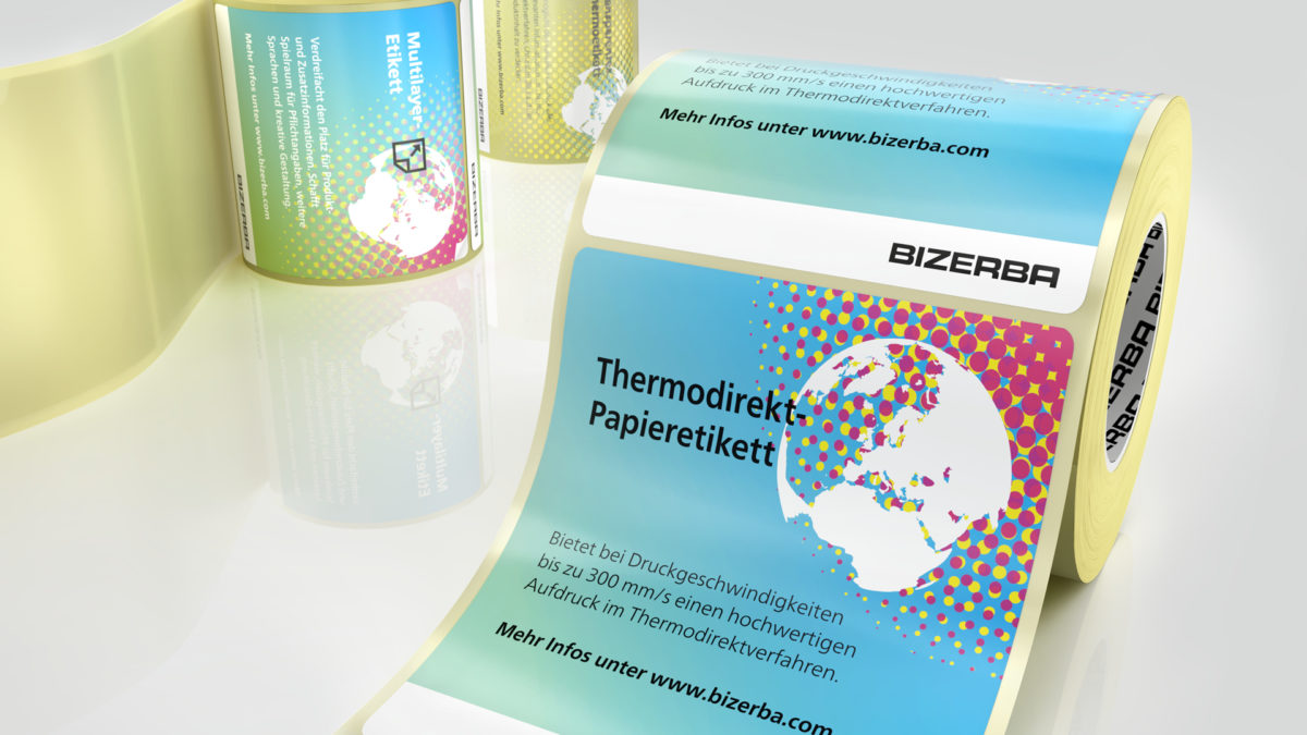 Bizerba bietet unterschiedliche Varianten wie Thermodirekt- und Multilayer-Etiketten. (Bild: Bizerba)
