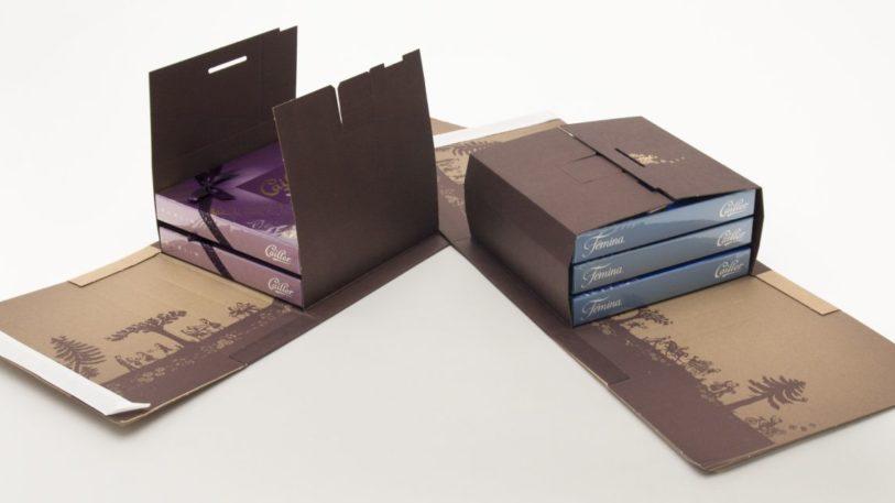 Wickelverpackung aus Wellpappe für Cailler-Schokolade
