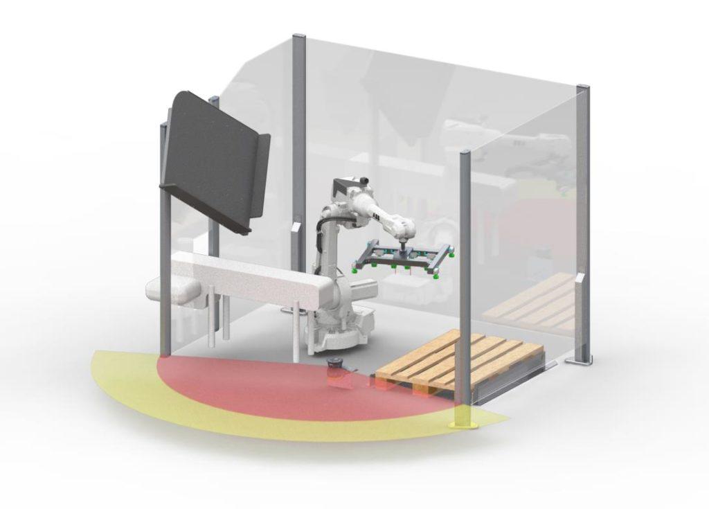 Kollaborativer Robot Palletizer (Bild: Transnova Ruf)