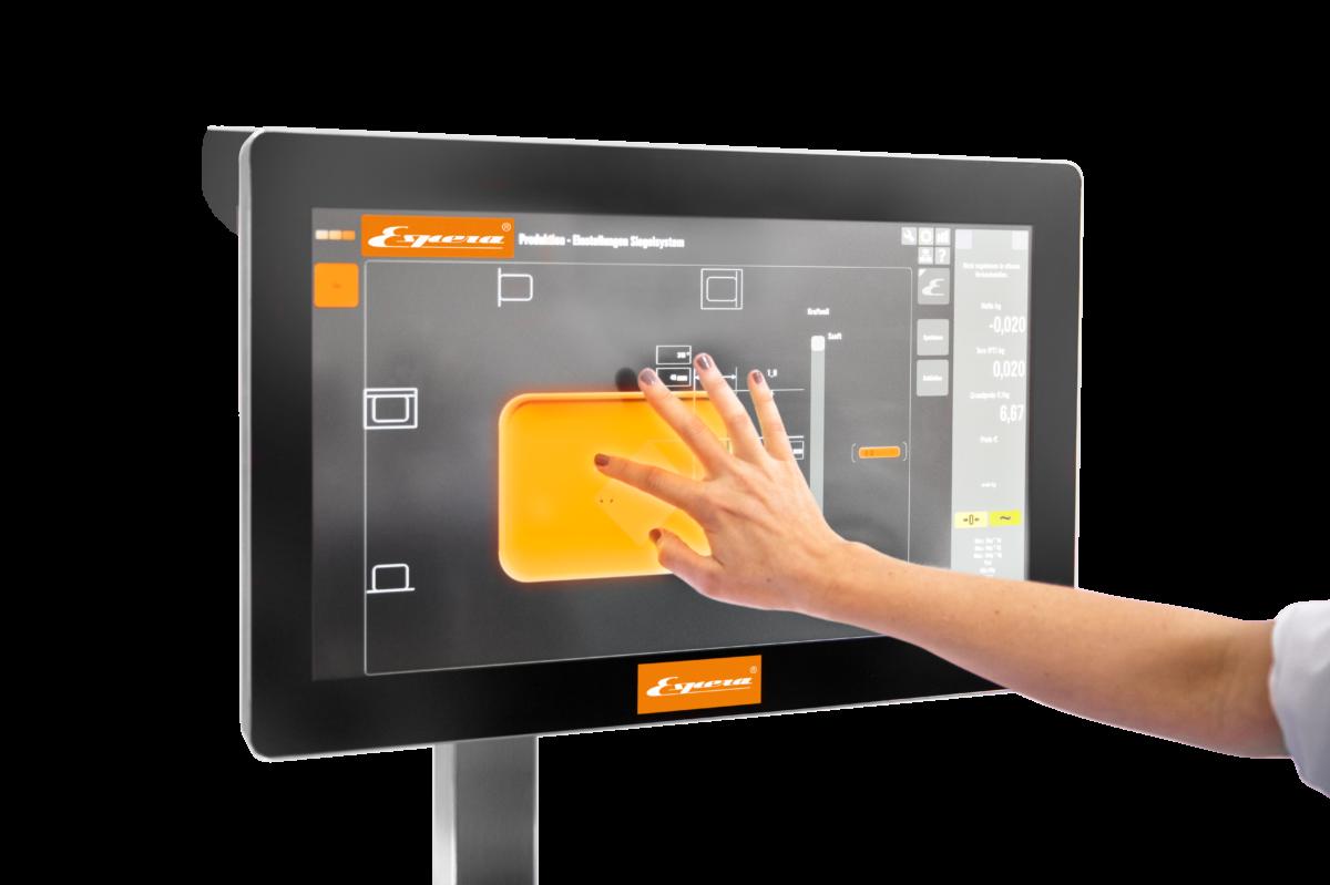 Intuitiv wie bei einem Smartphone erfolgen die Bedienung und Programmierung der Anlage per Drag & Drop. (Bild: Espera-Werke)