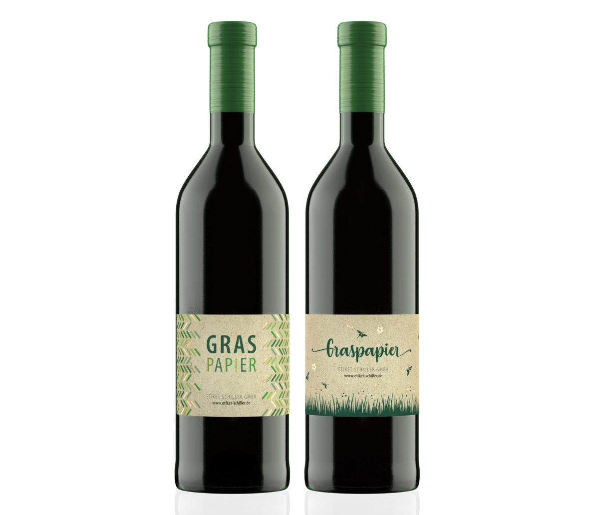 Grasetiketten für Wein (Bild: Etiket Schiller)