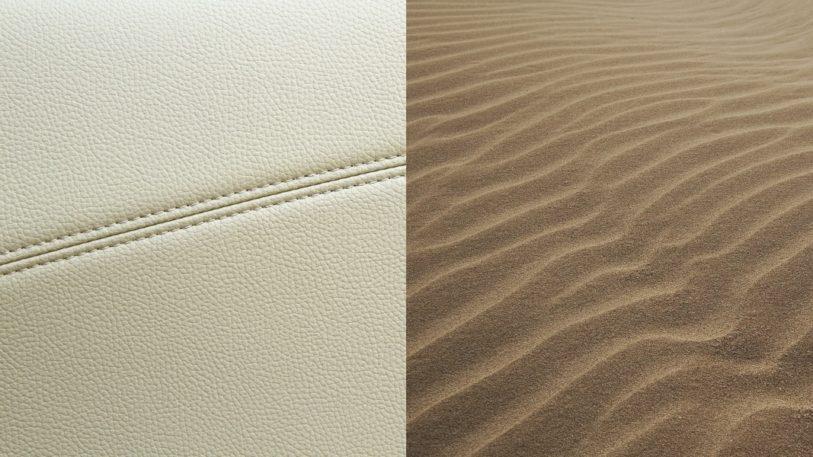 Die neuen Haptiklacke simulieren unterschiedliche Oberfläche wie Leder oder Sand. (Bilder: hubergroup)