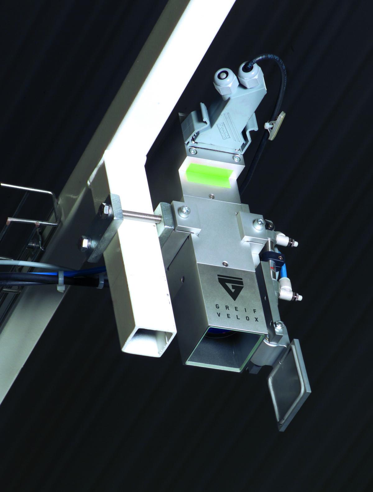 Diese Kamera wird für EX-Maschinen verwendet, deshalb ist eine Klappe vor der Kameralinse vorgesehen. (Bild: Studio12, Greif-Velox)