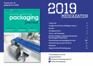 packaging journal Mediadaten 2019
