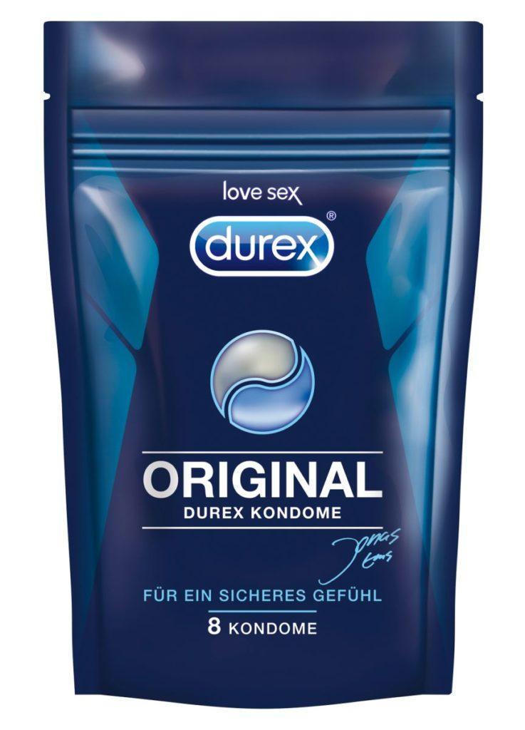 Der diskrete Beutel der Kondome Durex Original