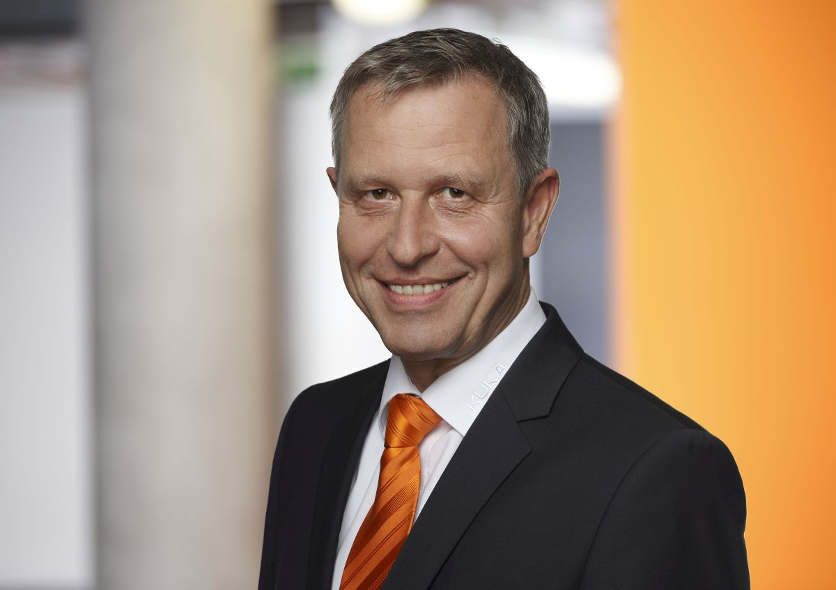 Wilfried Eberhardt, Vorsitzender VDMA-Fachverband Robotik + Automation (Bild: Kuka AG)