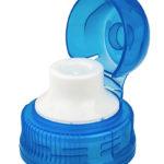 Thump'up® Crystal 29/25 (transparentes PP mit farbigem HDPE-Mundstück): Der zweiteilige Sportverschluss ist für eine einhändige Handhabung ausgelegt: Das Öffnen der Überkappe erfolgt ganz einfach mit dem Daumen einer Hand. (Bild: Bericap)