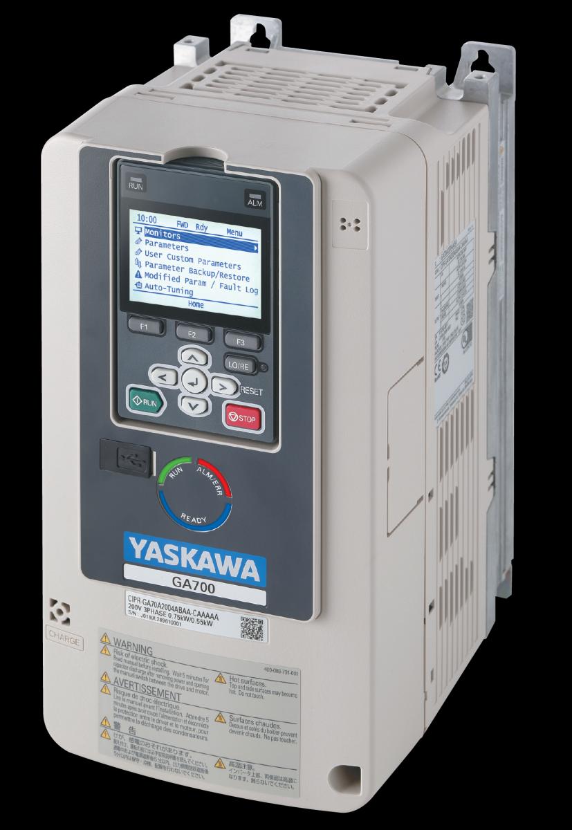 Frequenzumrichter GA700 von Yaskawa mit Bedienteil
