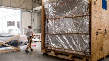 Vorbereitung einer Ladung für den Versand. (Bild: HID)