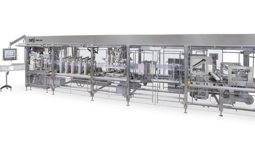 Neue Form-, Füll- und Verschließmaschine FMH 80 von SN Maschinenbau. (Bild: Leuze)