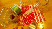 Upcycling leerer Marmeladengläser zu Weihnachtsdeko(Bild: Tanja Klindworth)