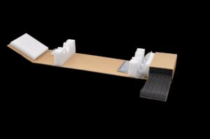 Wellpappewickel mit Zubehörfach (Bild: Thimm)