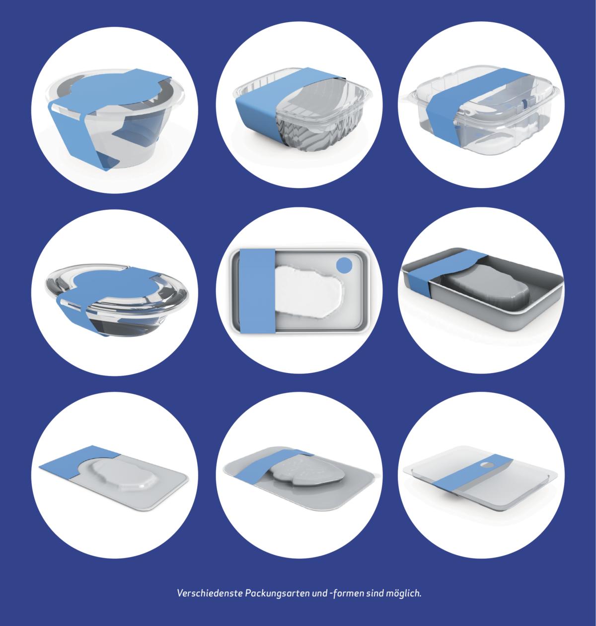 Verschiedenste Packungsarten und -formen sind möglich.