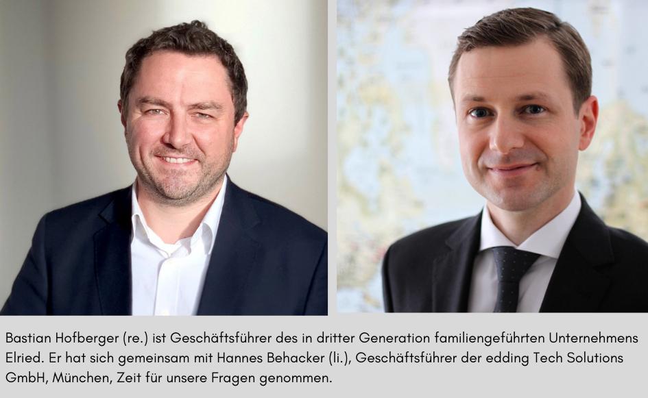 Bastian Hofberger (Bild: Elried) und Hannes Behacker (Bild: edding)