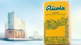 Die Ricola-Sonderedition mit Elbphilharmonie-Umriss (Bild: Hajok Design)