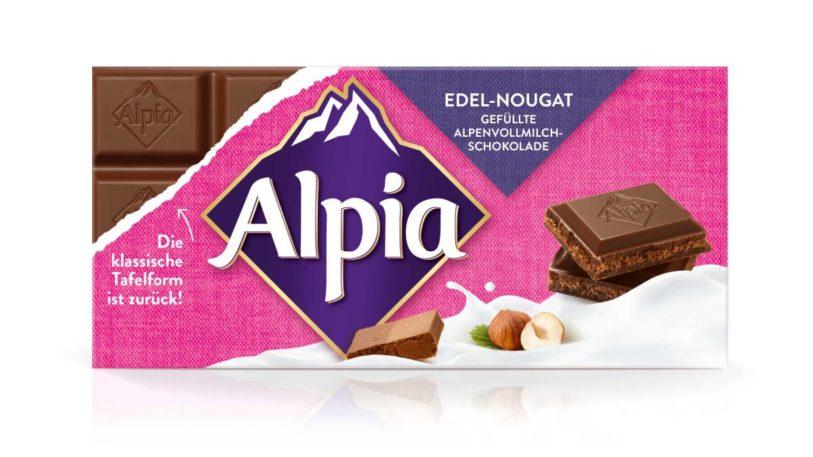 Alpia Schokolade im neuen Design (Bild: Alpia)