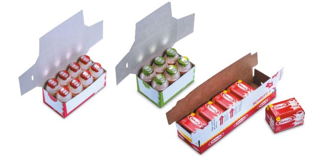 Sekundärverpackungen und Tertiärverpackung Yakult