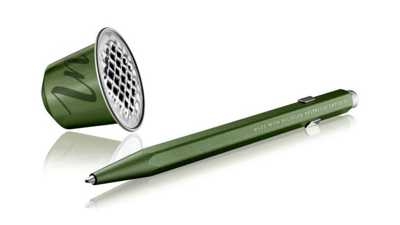 Kugelschreiber aus recycelten Nespresso-Kapseln. (Bild: Caran d'Ache)