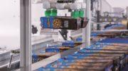 Ein Parallelroboter gruppiert Keksschachteln