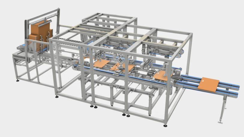 Beim Faltprozess wird der Produktschutz automatisch mit geformt.